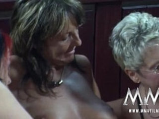 MMV FILMS German Lesbian Group sex with Party