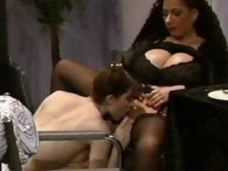 Busty Tiziana Redford in Black lesbian sex scene