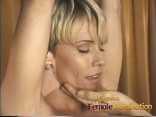 Blonde with a hot body dominated by a kinky milf