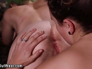 Real hairy lesbo rimmed