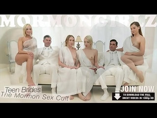 MormonGirlz Extra small lesbian foursome
