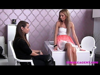 FemaleAgent First time lesbian experience for shy gorgeous