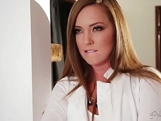 Squirter cleaning lady and the hot house owner Maddy OReilly, Cadence Lux