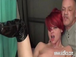 Extreme double fist fucked amateur slut